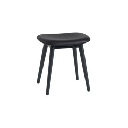 Fiber Stool | Wood Base | Leather | Pouf | Muuto