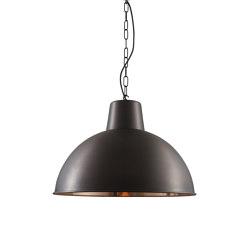 7163 Spun Reflector, Large, Weathered/Polished Copper Interior | Suspensions | Original BTC