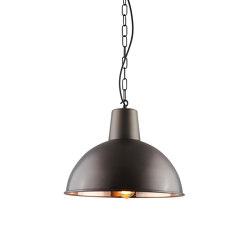 7164 Spun Reflector, Medium, Weathered copper, polished interior | Suspensions | Original BTC