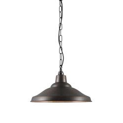 7200 School Light Weathered Copper, Polished Copper Interior | Suspended lights | Original BTC