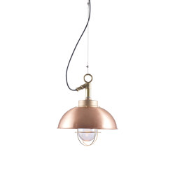 7222 Shipyard Pendant, Copper, Clear Glass | Suspended lights | Original BTC