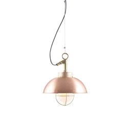 7222 Shipyard Pendant, Copper, Frosted Glass | Suspended lights | Original BTC