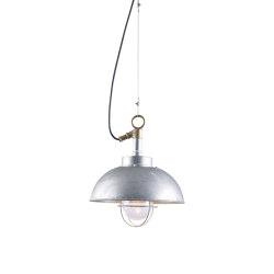 7222 Shipyard Pendant, Galvanised, Clear Glass | Suspended lights | Original BTC