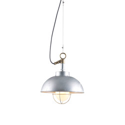 7222 Shipyard Pendant, Galvanised, Frosted Glass | Suspended lights | Original BTC