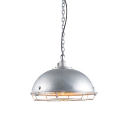 7238 Steel Working Light With Protective Guard, Galvanised | Suspended lights | Original BTC