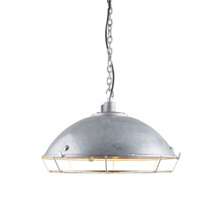 7242 Cargo Cluster Light With Protective Guard, 6xBC, Galvanised | Suspended lights | Original BTC