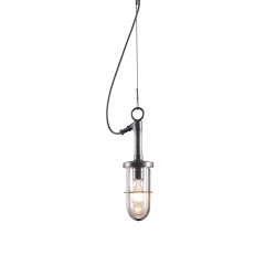 7524 Ship's Well Glass Pendant, Clear Glass, Weathered Brass | Suspended lights | Original BTC
