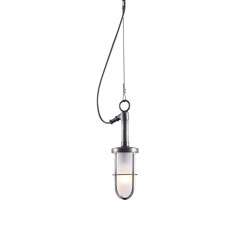 7524 Ship's Well Glass Pendant, Frosted Glass, Weathered Brass | Suspended lights | Original BTC