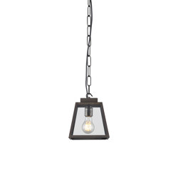 7635 Quad Pendant, Small, Weathered Brass, Clear, Closed Top | Suspended lights | Original BTC