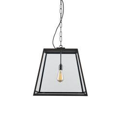 7635 Quad Pendant Light, Closed Top, Large, Weather Brass, Clear | Suspended lights | Original BTC