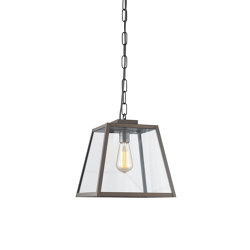 7635 Quad Pendant Light, Closed Top, Medium, Weather Brass, Clear | Suspended lights | Original BTC