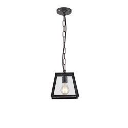 7636 Quad Pendant Internally Glazed, Small, Weathered Brass Clear | Suspended lights | Original BTC