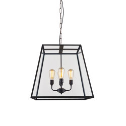 7636 Quad Pendant, XL and 4 Lamp Holders, Weathered Brass, Clear | Pendelleuchten | Original BTC