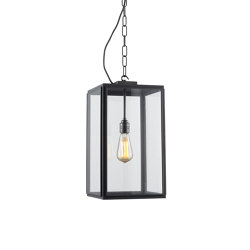 7638 Square Pendant, Ext Glass, Closed Top, Weather Brass, Clear | Suspended lights | Original BTC