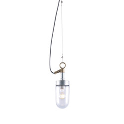 7679 Well Glass Pendant, Galvanised, Clear Glass | Suspended lights | Original BTC
