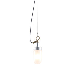 7679 Well Glass Pendant, Galvanised, Frosted Glass | Suspensions | Original BTC