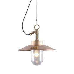 7680 Well Glass Pendant With Visor, Gunmetal, Clear Glass | Suspended lights | Original BTC