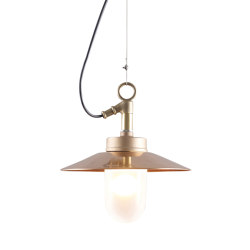 7680 Well Glass Pendant With Visor, Gunmetal, Frosted Glass | Suspended lights | Original BTC
