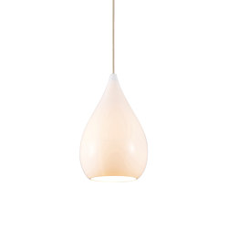 Drop One Large Pendant, White Gloss | Suspended lights | Original BTC