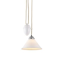 Cobb Rise & Fall Small Pendant Light, White | Suspended lights | Original BTC