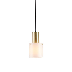 Walter Brass Pendant, Size 1, Opal Glass | Suspended lights | Original BTC