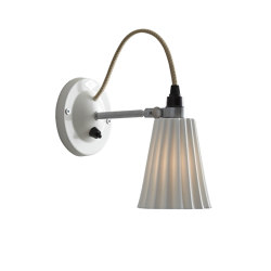 Hector Small Pleat Switched Wall Light, Natural | Appliques murales | Original BTC