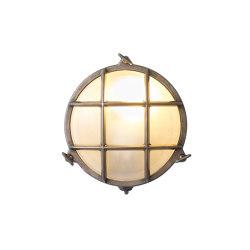 7028 Brass Bulkhead with Internal Fixing Points, Weathered Brass | Wall lights | Original BTC