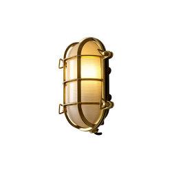 Oval Brass Bulkhead with Int. Fixing Points, Polished Brass | Wall lights | Original BTC