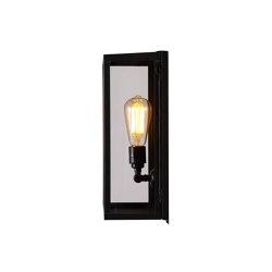 7645 Box Wall Light, Internally Glass, Medium, Weathered Brass, Clear | Wall lights | Original BTC