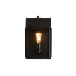 7250 Domed Box Wall Light, Weathered Brass, Clear Glass | Wall lights | Original BTC