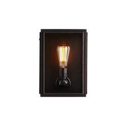 7641 Box Wall Light, External Glass, Small, Weather Brass, Clear | Wall lights | Original BTC