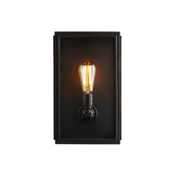 7642 Box Wall Light, Ext Glass, Medium, Weathered Brass, Clear | Wall lights | Original BTC