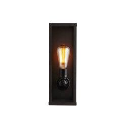 7650 Narrow Box Wall Light, Internally Glass, Weathered Brass, Clear | Wall lights | Original BTC