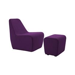 SOFT LOW CHAIR Lounge Sessel mit Ottomane | Sessel | KFF