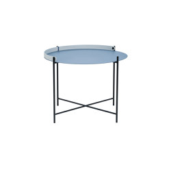 EDGE | Table Ø46 Pigeon Blue | Tables d'appoint | HOUE