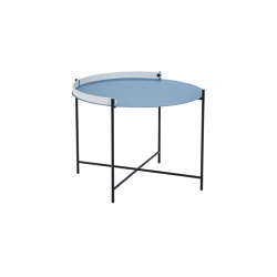 EDGE | Table Ø62 Pigeon Blue | Tables d'appoint | HOUE