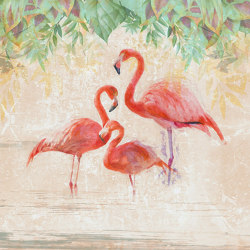 Flamingos party | Wall coverings / wallpapers | WallPepper
