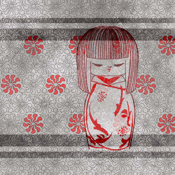 Kokeshi doll | Wall coverings / wallpapers | WallPepper