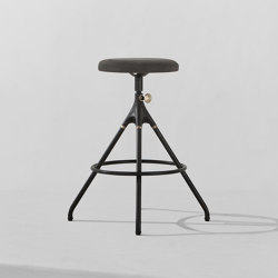 Akron Counter Stool With Leather Seat   Bar stools   District Eight