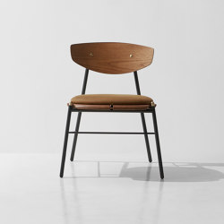 Kink Dining Chair Leather Cushion | Stühle | District Eight
