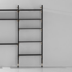 Theo Wall Unit With Medium Shelves | Shelving | District Eight