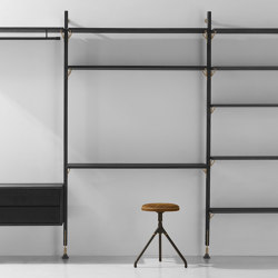 Theo Wall Unit With Desk | Shelving | District Eight