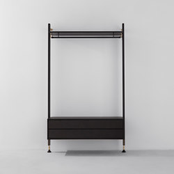 Theo Wall Unit Clothing Rail With Drawer | Porte-manteau | District Eight