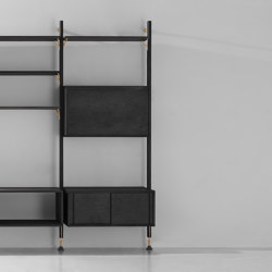 Theo Wall Unit With Bar Counter | Shelving | District Eight