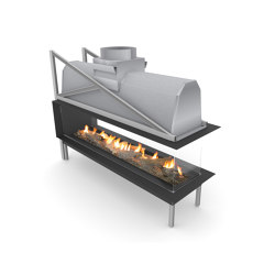 Sinatra Room Divider | Open fireplaces | Planika
