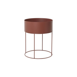 Plant Box - Round - Red Brown | Storage boxes | ferm LIVING