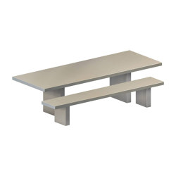 Tommaso Outdoor Table & Bench | Tables and benches | ZEUS