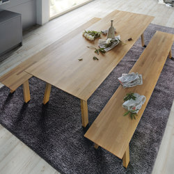 next125 table&bench Roble con nudos natural | Mesas comedor | next125