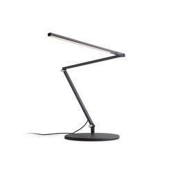 Z-Bar Slim LED Desk Lamp - Metallic Black   Table lights   Koncept