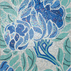 Royal Waves | Fine Flower Decor 15X15 | Glass mosaics | Mosaico+